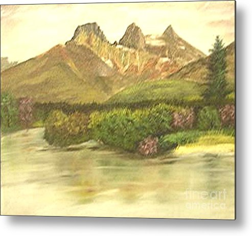 Lanscape Metal Print featuring the painting The Three Sisters by Nicholas Minniti