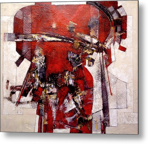 Abstract Metal Print featuring the painting The Wrinkled Kimono by Dale Witherow