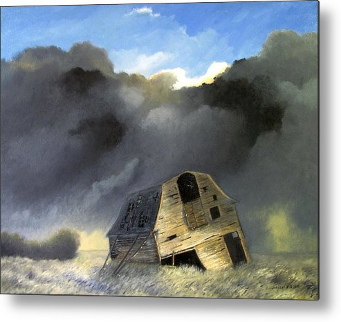 Landscape Metal Print featuring the painting To be or not To be 24x30 by Boris Garibyan