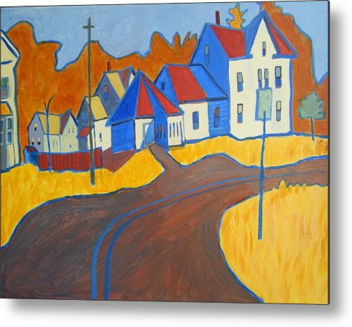 Buildings Metal Print featuring the painting Town Center Plaistow NH by Debra Bretton Robinson