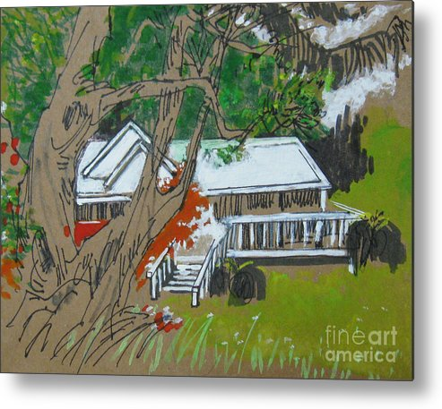 Tree Metal Print featuring the drawing Tree by Guanyu Shi