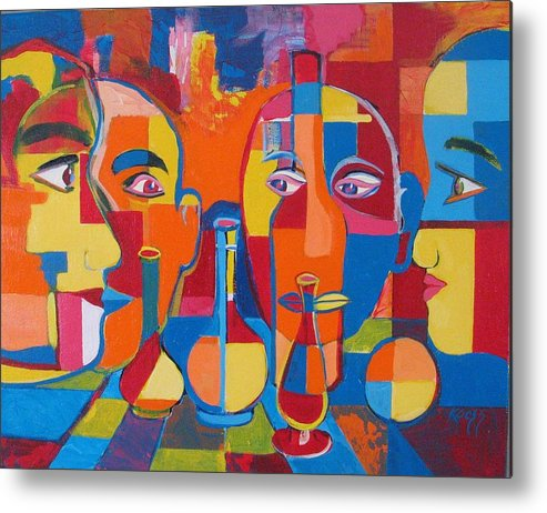 Faces Metal Print featuring the painting Uncertainty by Rollin Kocsis