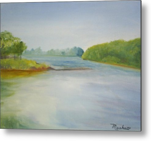 Delaware River Metal Print featuring the painting View of the Delaware by Sheila Mashaw