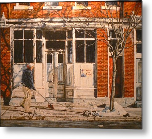 Appalachian Life Metal Print featuring the painting War at Home by Thomas Akers