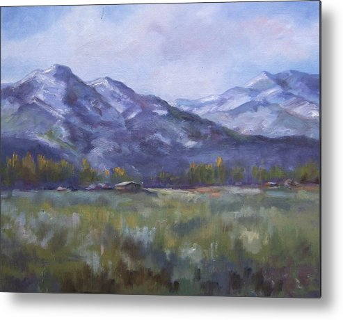 Mountains Metal Print featuring the painting Wasacth View by Ruth Stromswold