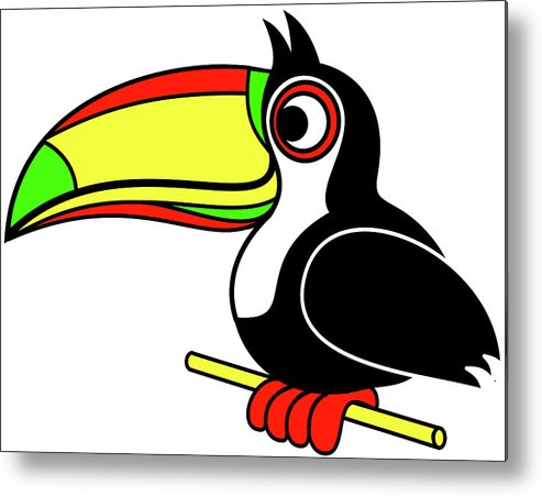 Who Can Tucan Metal Print featuring the digital art Who can Tucan by Asbjorn Lonvig