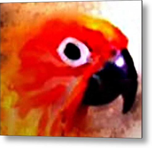 Parrot Metal Print featuring the digital art Wild Parrot by Crystal Webb