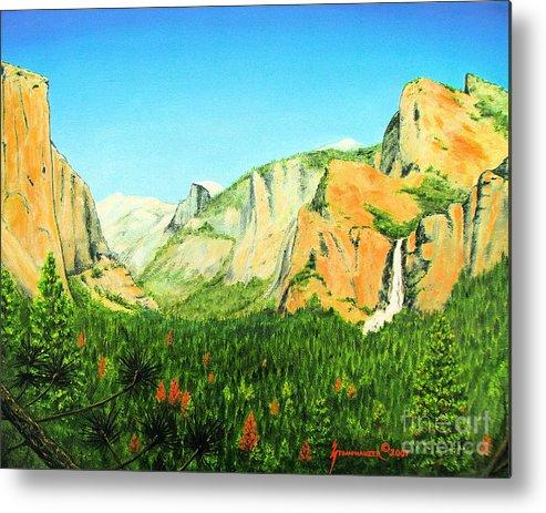 Yosemite National Park Metal Print featuring the painting Yosemite National Park by Jerome Stumphauzer