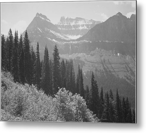 Scenics Metal Print featuring the photograph In Glacier National Park by Buyenlarge