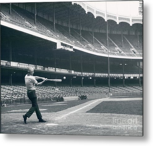 People Metal Print featuring the photograph Joe Dimaggio by Sports Studio Photos