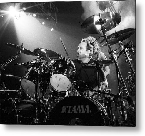 Music Metal Print featuring the photograph Metallica Live by Larry Hulst