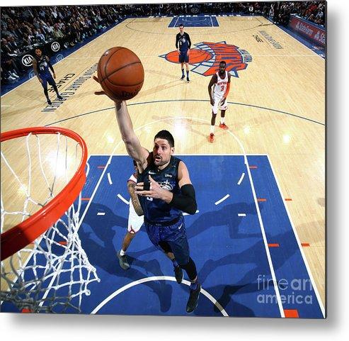 Nba Pro Basketball Metal Print featuring the photograph Orlando Magic V New York Knicks by Nathaniel S. Butler