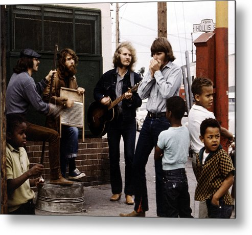 Music Metal Print featuring the photograph Photo Of Creedence Clearwater Revival by Michael Ochs Archives