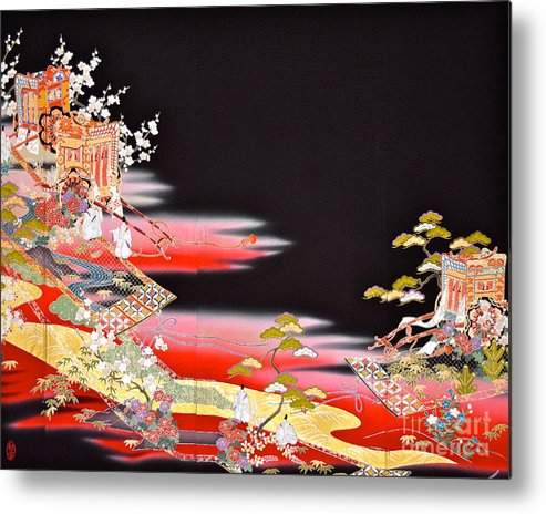 Metal Print featuring the digital art Spirit of Japan T81 by Miho Kanamori