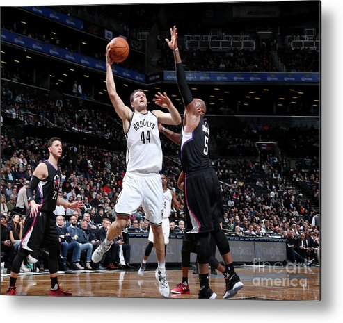 Nba Pro Basketball Metal Print featuring the photograph La Clippers V Brooklyn Nets by Nathaniel S. Butler
