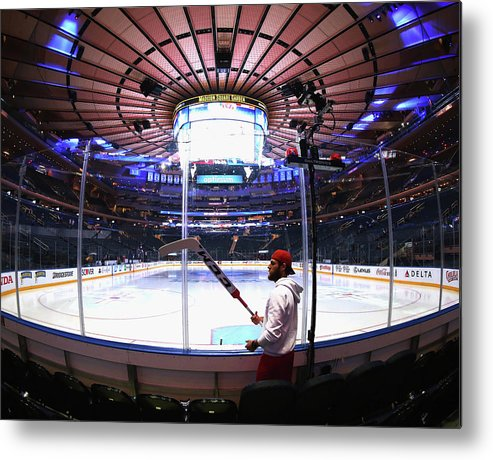 Playoffs Metal Print featuring the photograph Washington Capitals V New York Rangers by Bruce Bennett