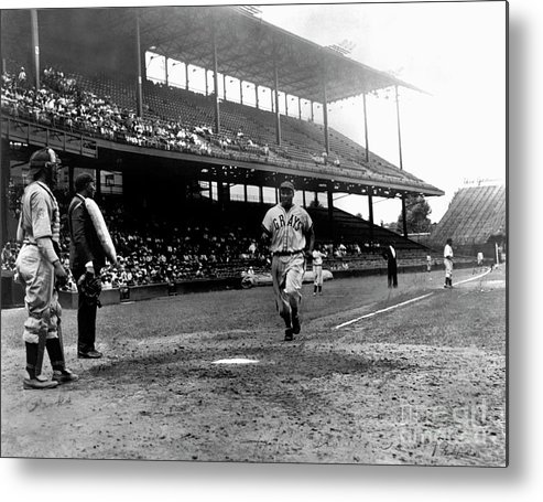 Scoring Metal Print featuring the photograph National Baseball Hall Of Fame Library by National Baseball Hall Of Fame Library