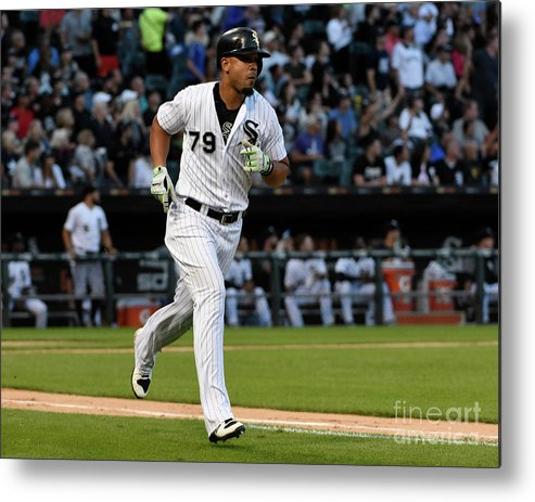 People Metal Print featuring the photograph Kansas City Royals V Chicago White Sox by David Banks