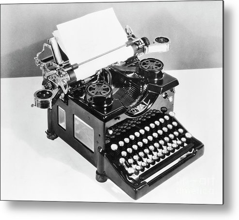 Mineral Metal Print featuring the photograph Typewriter by Bettmann