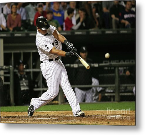 People Metal Print featuring the photograph Cleveland Indians V Chicago White Sox by Jonathan Daniel