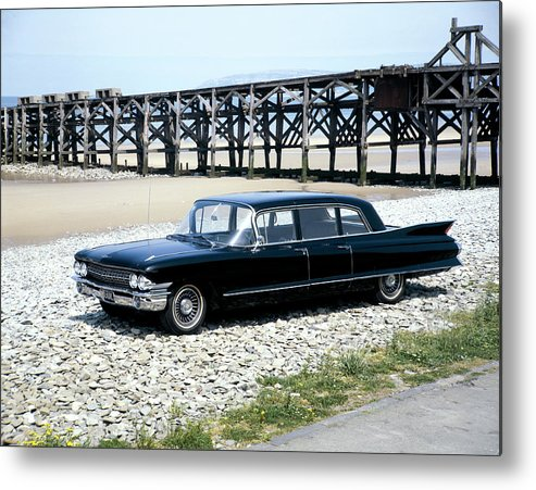 Water's Edge Metal Print featuring the photograph A 1961 Cadillac Presidential Limousine by Heritage Images