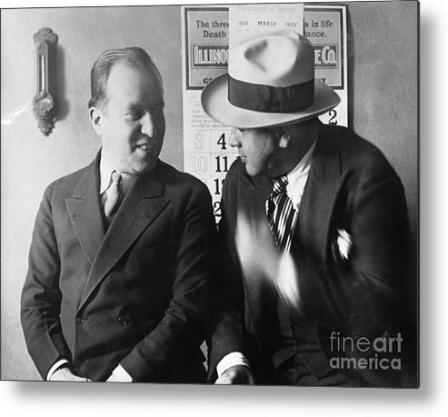 People Metal Print featuring the photograph Al Capone And Benjamin Epstein by Bettmann