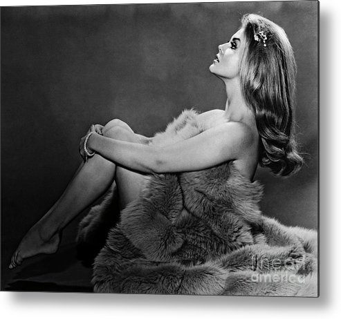 People Metal Print featuring the photograph Ann-margret In Profile Pose And Wrapped by Bettmann