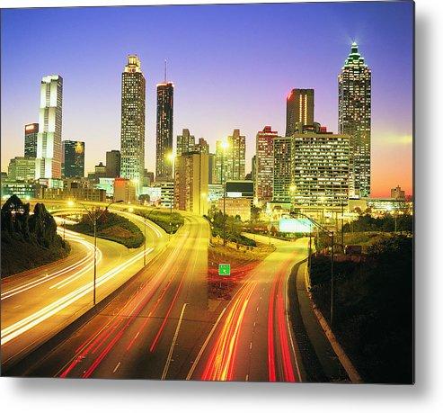Atlanta Metal Print featuring the photograph Atlanta Skyline, Georgia, Usa by Travel Ink