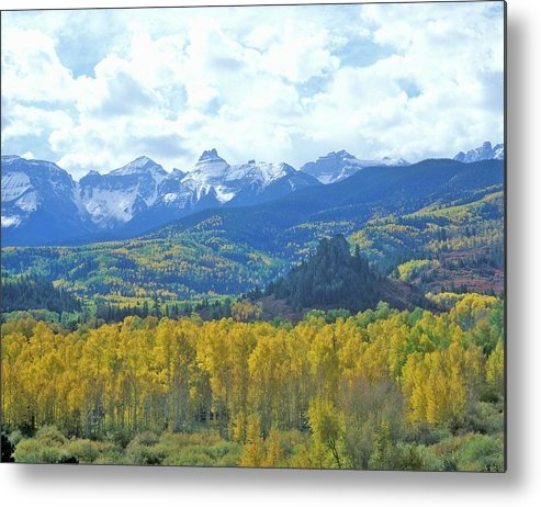 Scenics Metal Print featuring the photograph Autumn Colors In The Sneffels Mountain by Visionsofamerica/joe Sohm
