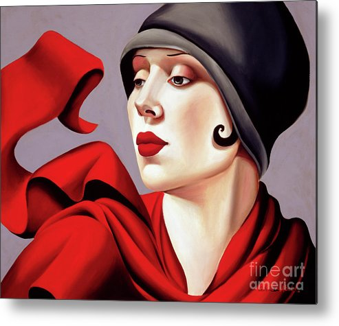 30s Metal Print featuring the painting Autumn Zephyr by Catherine Abel