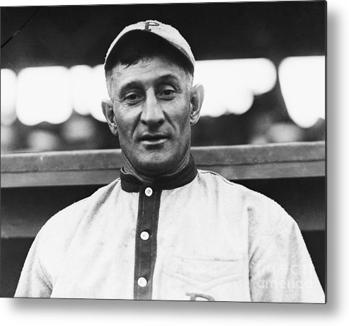 People Metal Print featuring the photograph Baseball Player Honus Wagner by Bettmann