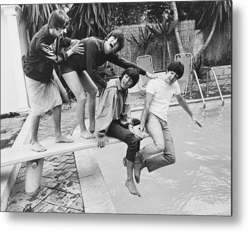Singer Metal Print featuring the photograph Beatles In La by Express