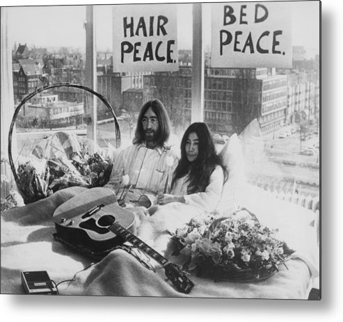 Singer Metal Print featuring the photograph Bed-in For Peace by Keystone