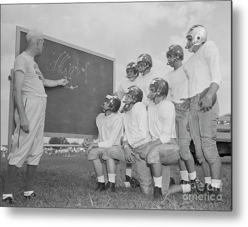 People Metal Print featuring the photograph Buck Shaw With Air Force Academy Squad by Bettmann