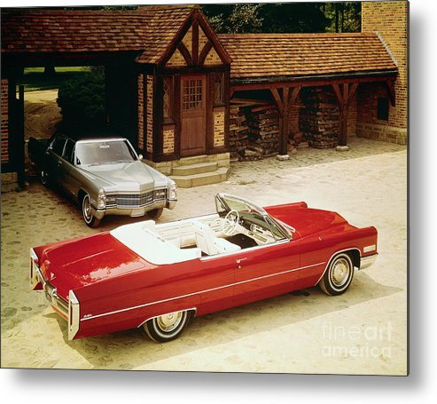 Detroit Metal Print featuring the photograph Cadillac Fleetwood And Cadillac De Ville by Bettmann