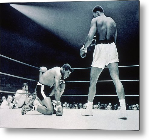 Heavyweight Metal Print featuring the photograph Cassisus Clay V Floyd Patterson by Hulton Archive