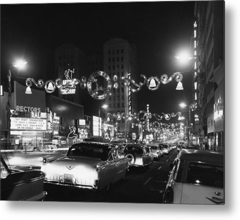 Hollywood Boulevard Metal Print featuring the photograph Christmas In Hollywood by American Stock Archive