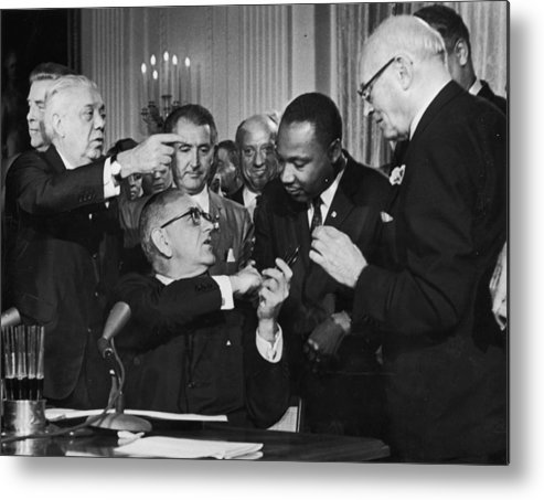 Civil Rights Act Metal Print featuring the photograph Civil Rights Bill by Hulton Archive