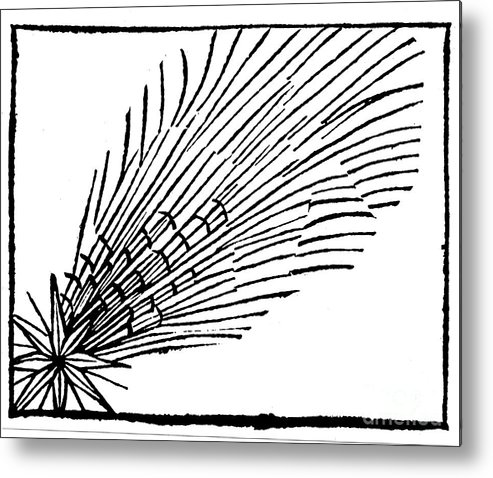 Comet Metal Print featuring the drawing Comet Of 684 Halley, 1493 by Print Collector