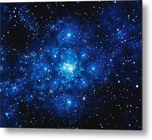 Majestic Metal Print featuring the digital art Constellation Digitally Generated Image by Stocktrek