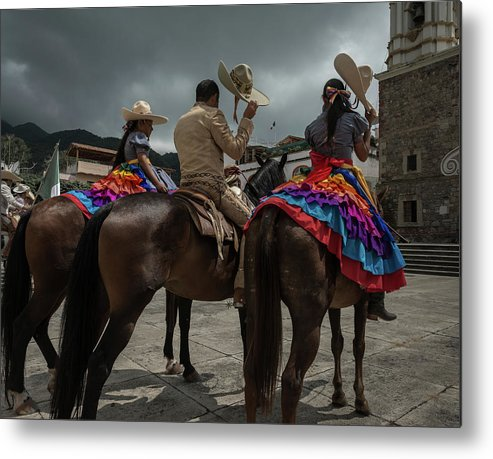 Cowgirls Metal Print featuring the photograph Cowboys and Sombreros by Dane Strom