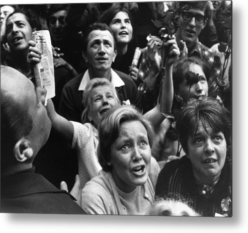 Crowd Metal Print featuring the photograph Czech Crowd by Reg Lancaster