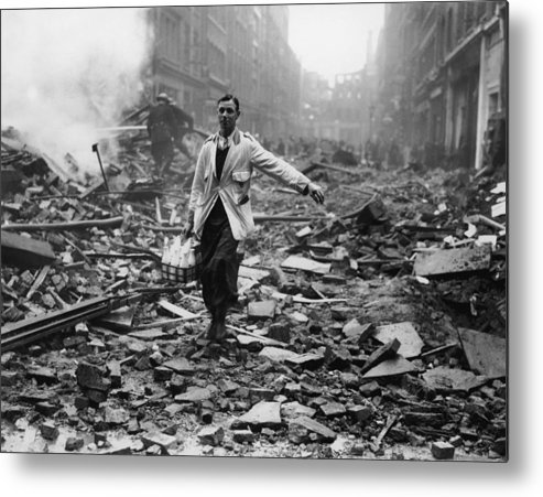 Milk Metal Print featuring the photograph Delivery After Raid by Fred Morley