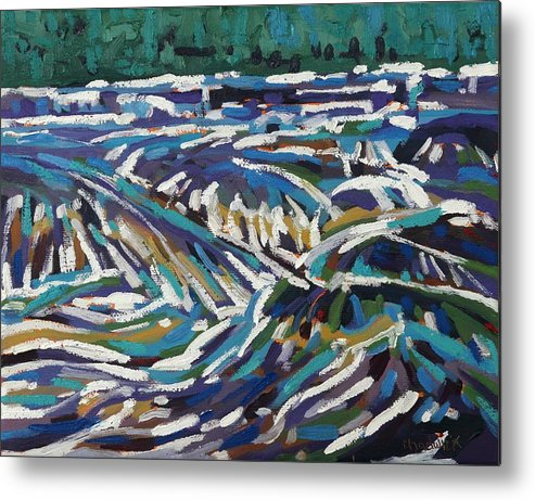 2270 Metal Print featuring the painting Dumoine Brink Of The Grande Chute by Phil Chadwick