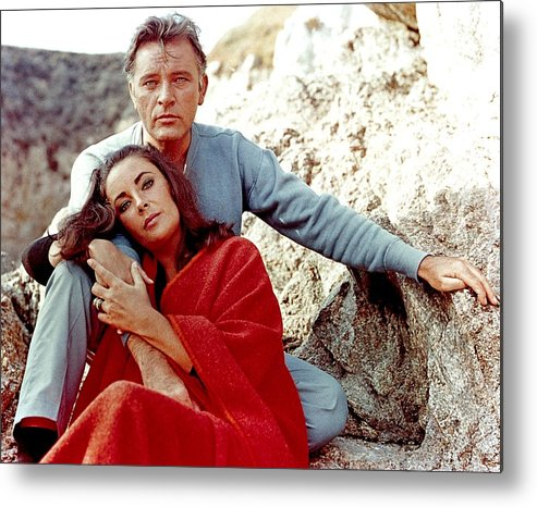 Actor Metal Print featuring the photograph Elizabeth Taylor And Richard Burton On by Api