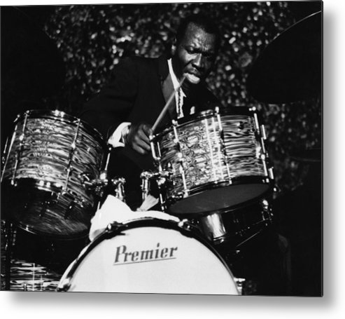 Concert Metal Print featuring the photograph Elvin Jones On Drums by David Redfern