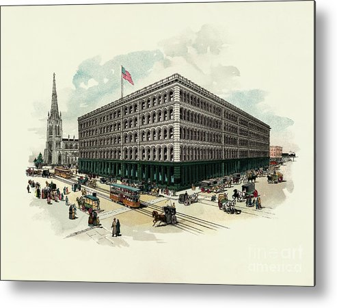 East Metal Print featuring the photograph Exterior Of A T Stewart Department Store by Bettmann