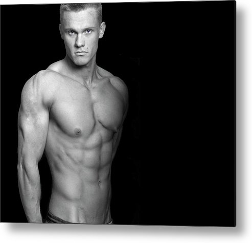 Cool Attitude Metal Print featuring the photograph Fitness Portrait by Ragnak