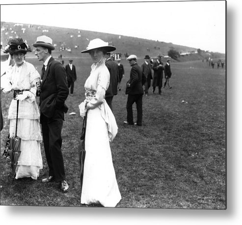 Scenics Metal Print featuring the photograph Goodwood Fashion by Central Press