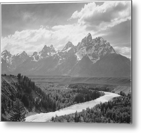 Snow Metal Print featuring the photograph Grand Teton by Buyenlarge